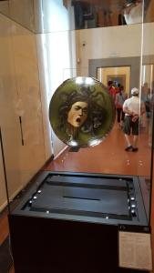 Carvaggio's famous shield: Medusa with morning breath